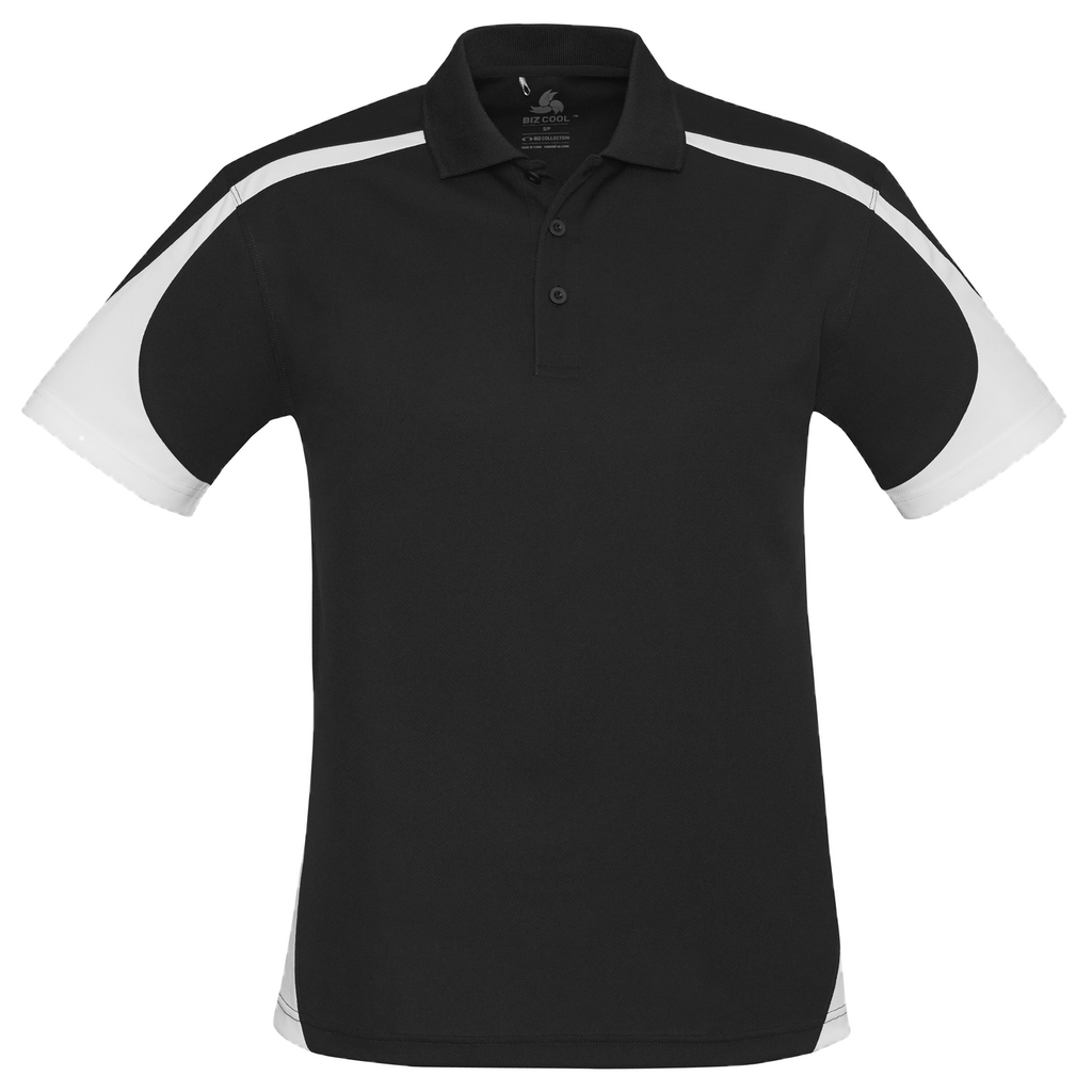 Mens Talon Polo, Colours: Black / White
