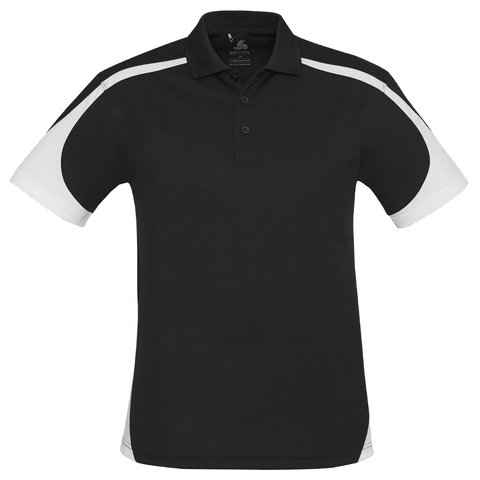 Image of Mens Talon Polo, Colours: Black / White