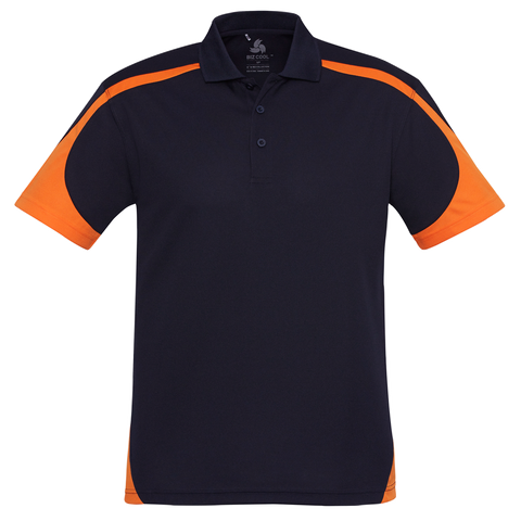 Image of Mens Talon Polo, Colours: Navy / Orange