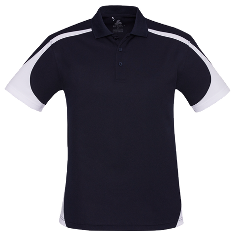 Image of Mens Talon Polo, Colours: Navy / White