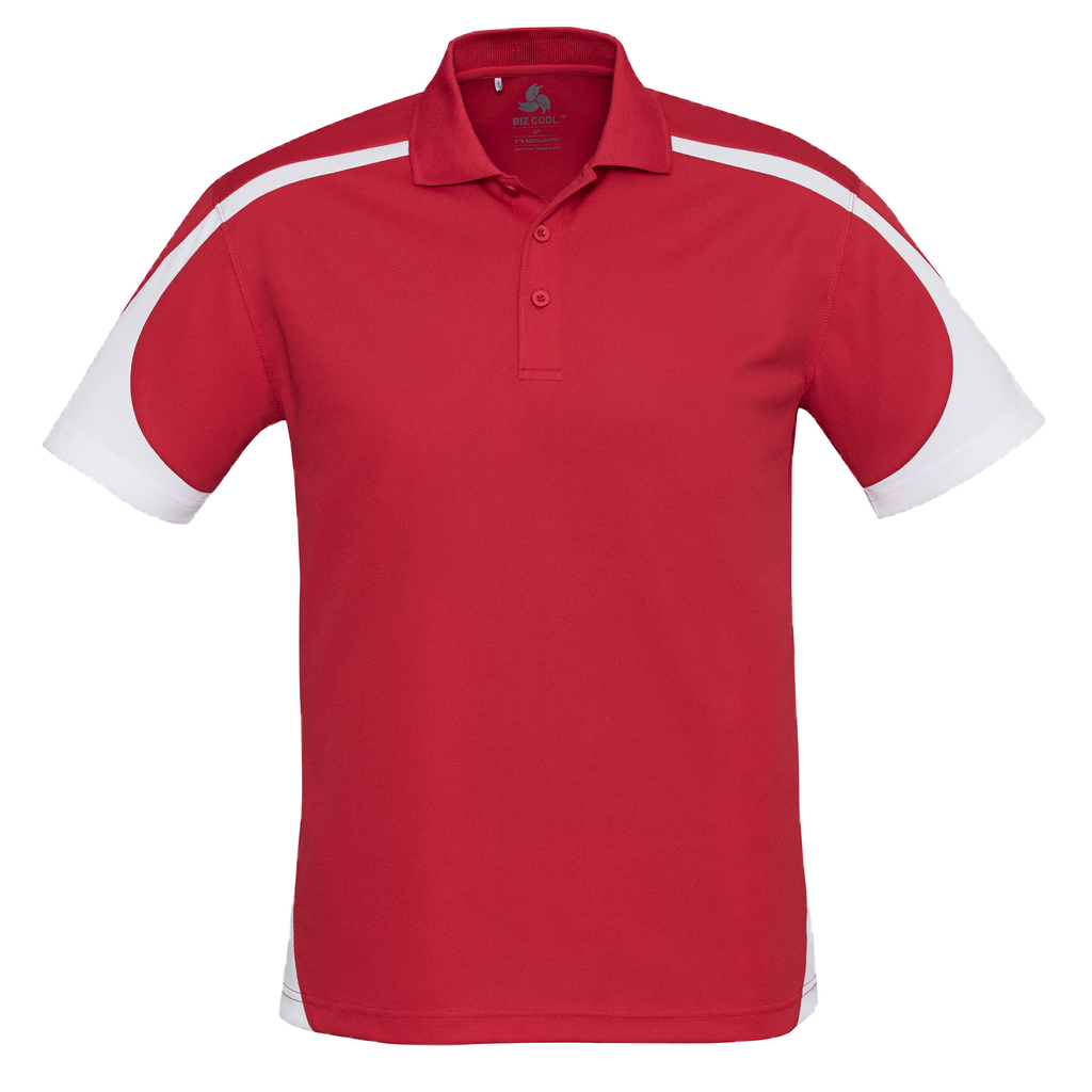 Mens Talon Polo, Colours: Red / White