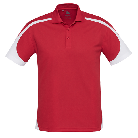 Image of Mens Talon Polo - Colours Red / White