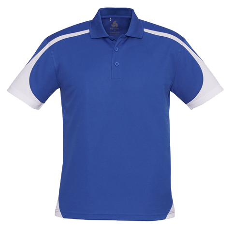 Image of Mens Talon Polo, Colours: Royal / White
