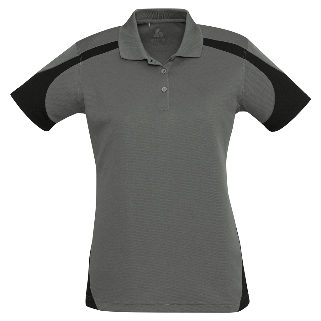 Womens Talon Polo - Colours Ash / Black