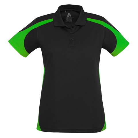Womens Talon Polo - Colours Black / Green