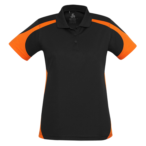 Womens Talon Polo - Colours Black / Orange