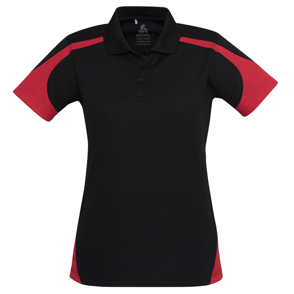 Womens Talon Polo - Colours Black / Red