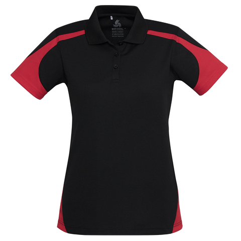 Image of Womens Talon Polo, Colours: Black / Red