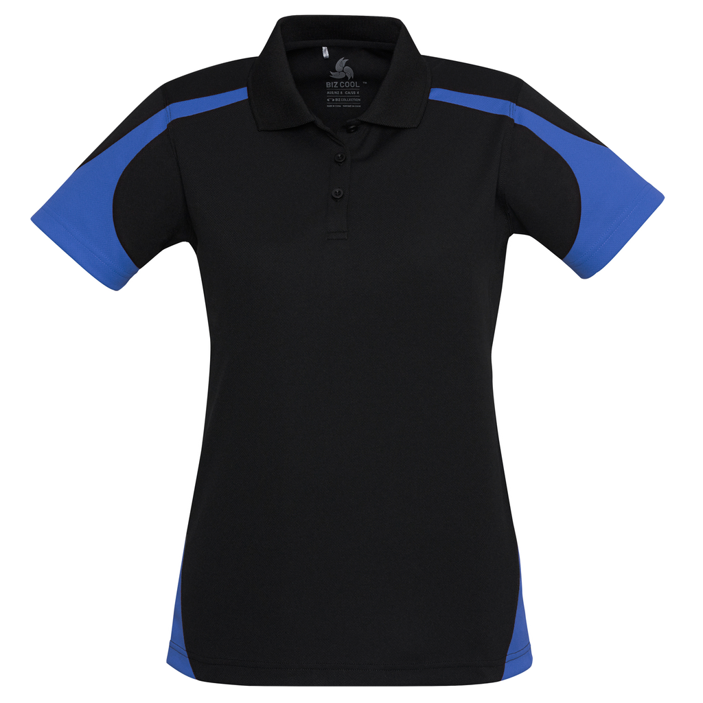 Womens Talon Polo - Colours Black / Royal