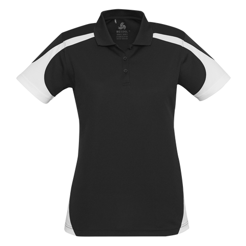 Womens Talon Polo - Colours Black / White