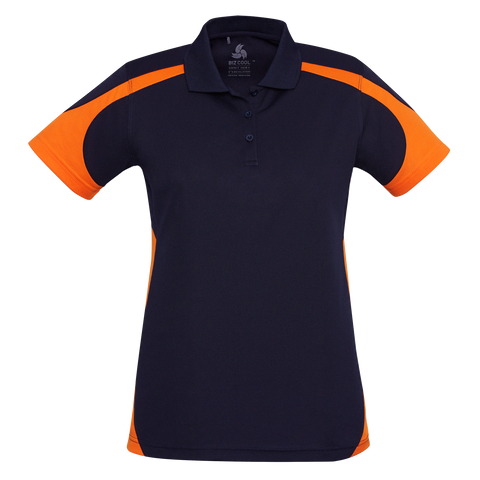 Womens Talon Polo - Colours Navy / Orange