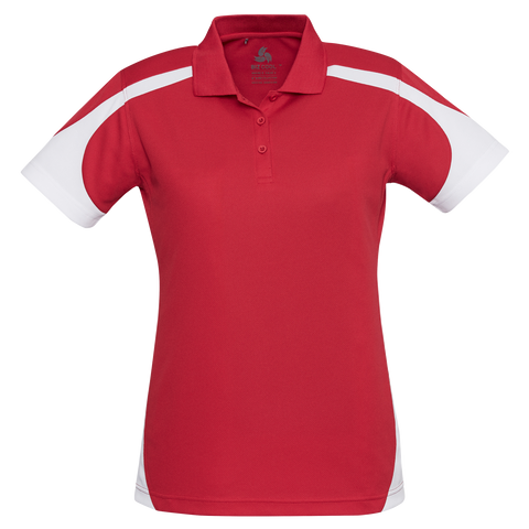 Image of Womens Talon Polo, Colours: Red / White