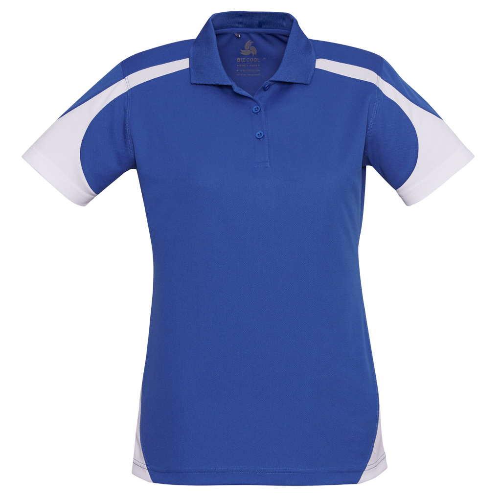 Womens Talon Polo - Colours Royal / White
