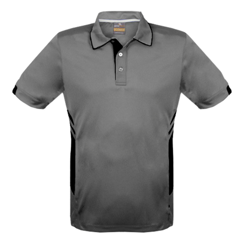 Image of Kids Tasman Polo - Colours Ashe / Black
