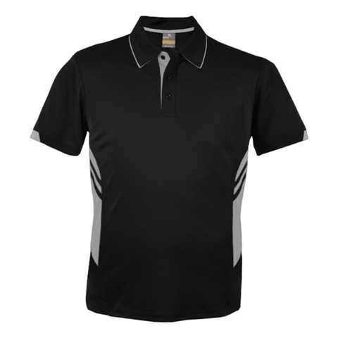 Image of Kids Tasman Polo - Colours Black / Ashe