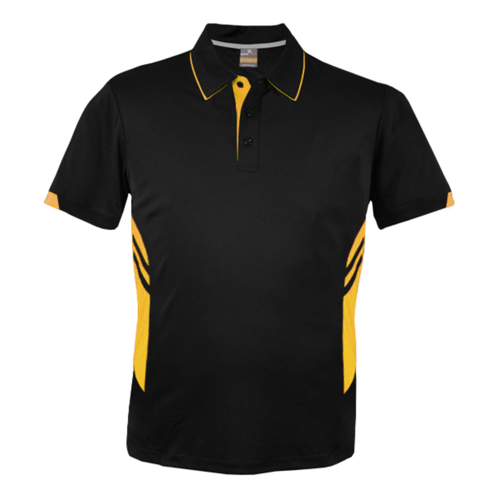 Kids Tasman Polo - Colours Black / Gold