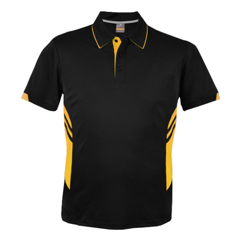 Image of Kids Tasman Polo - Colours Black / Gold