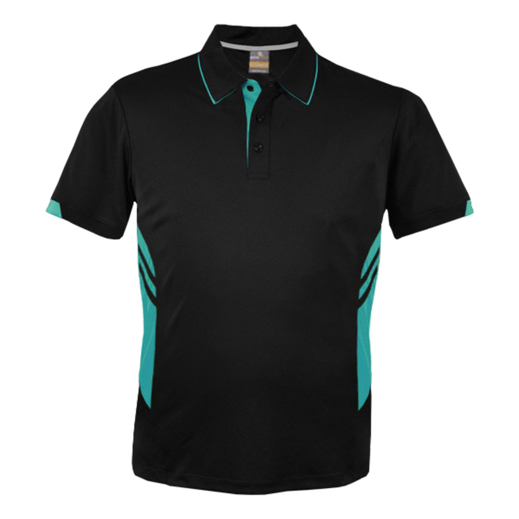 Kids Tasman Polo - Colours Black / Teal