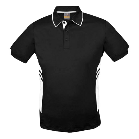 Image of Kids Tasman Polo - Colours Black / White