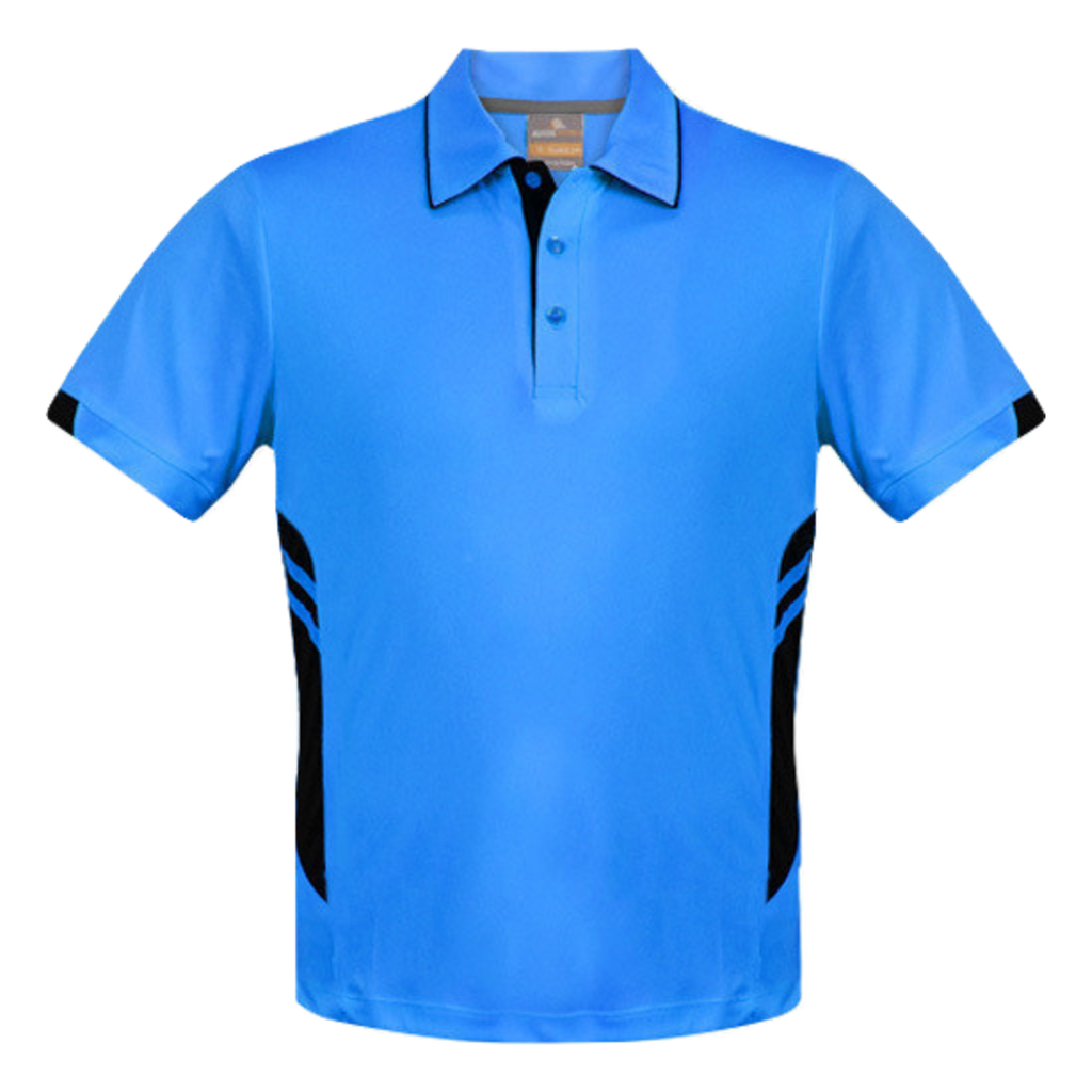 Kids Tasman Polo - Colours Cyan / Black
