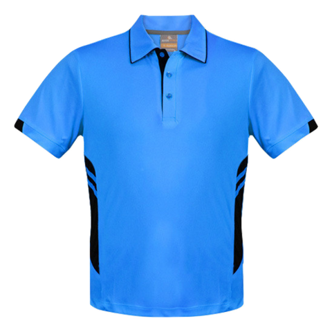 Image of Kids Tasman Polo - Colours Cyan / Black