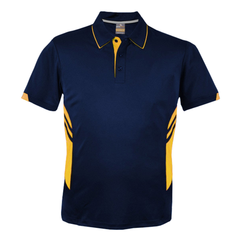 Image of Kids Tasman Polo - Colours Navy / Gold