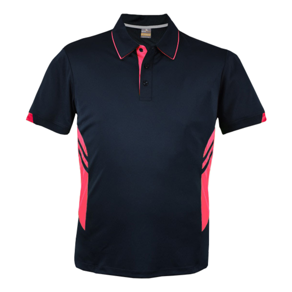 Kids Tasman Polo - Colours Navy / Neon Pink