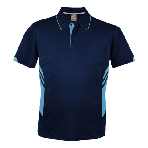Image of Kids Tasman Polo - Colours Navy / Sky