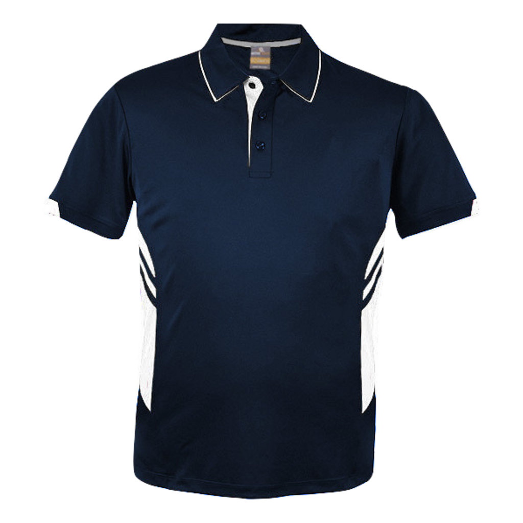 Kids Tasman Polo - Colours Navy / White