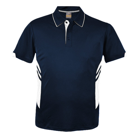 Image of Kids Tasman Polo - Colours Navy / White