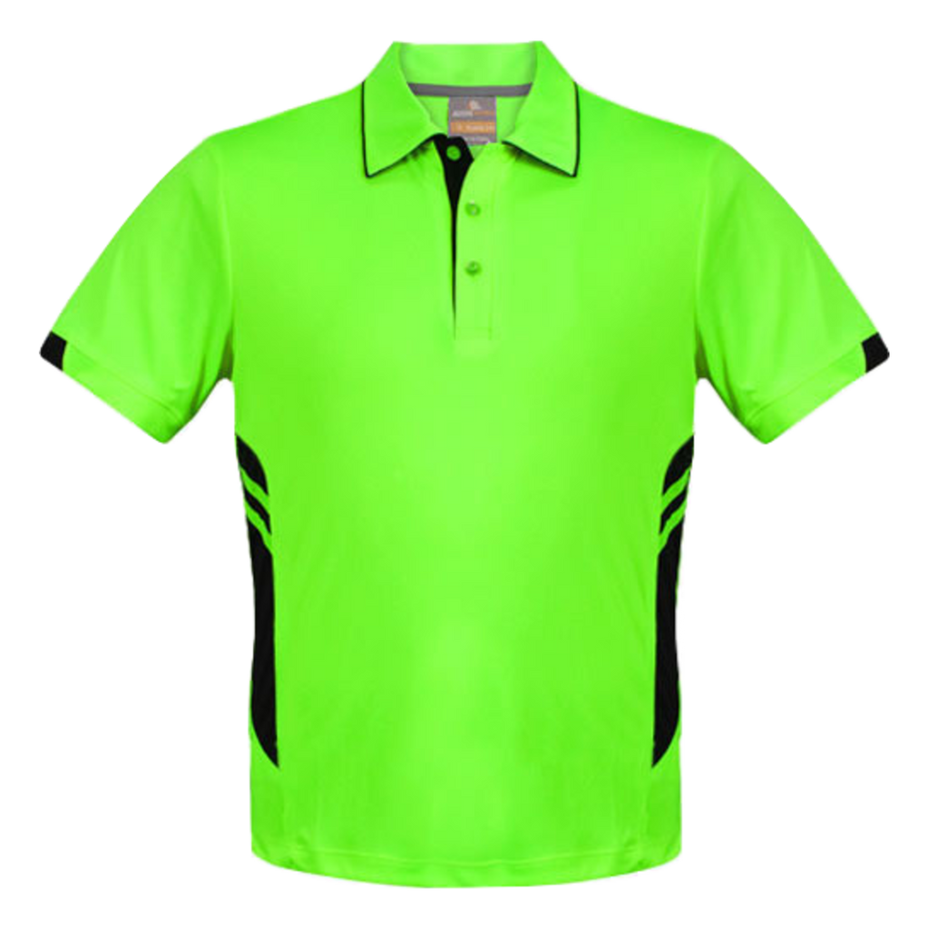 Kids Tasman Polo - Colours Neon Green / Black