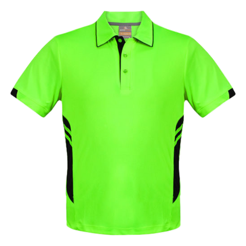 Image of Kids Tasman Polo - Colours Neon Green / Black