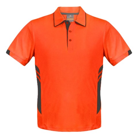 Image of Kids Tasman Polo - Colours Neon Orange / Slate