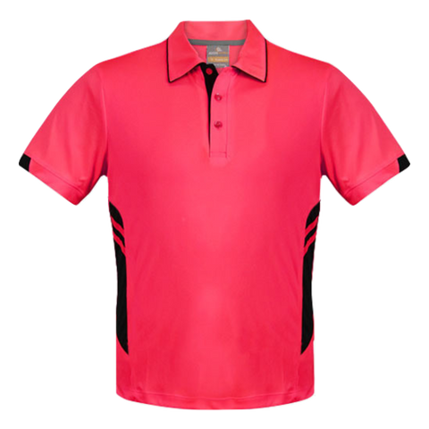Image of Kids Tasman Polo - Colours Neon Pink / Black