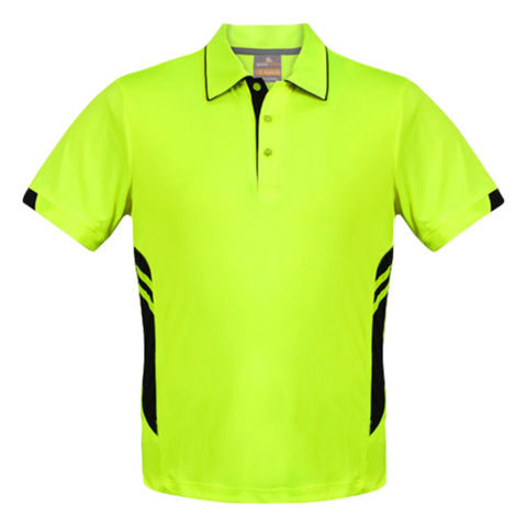 Image of Kids Tasman Polo - Colours Neon Yellow / Black