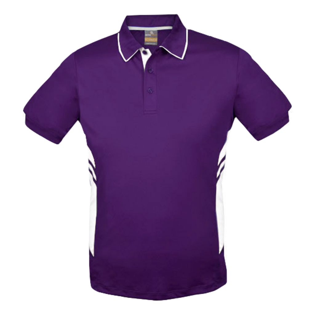 Kids Tasman Polo - Colours Purple / White
