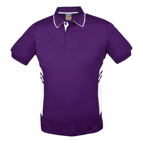 Image of Kids Tasman Polo - Colours Purple / White