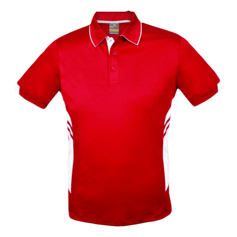 Image of Kids Tasman Polo - Colours Red / White