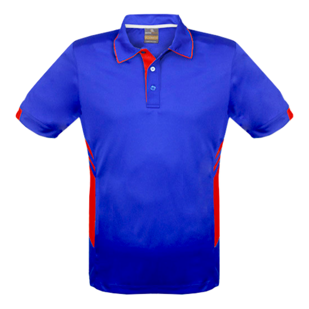 Kids Tasman Polo - Colours Royal / Red