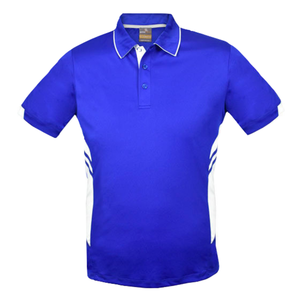 Kids Tasman Polo - Colours Royal / White
