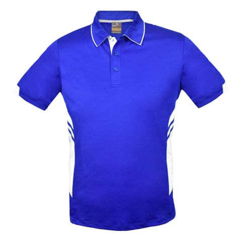 Image of Kids Tasman Polo - Colours Royal / White