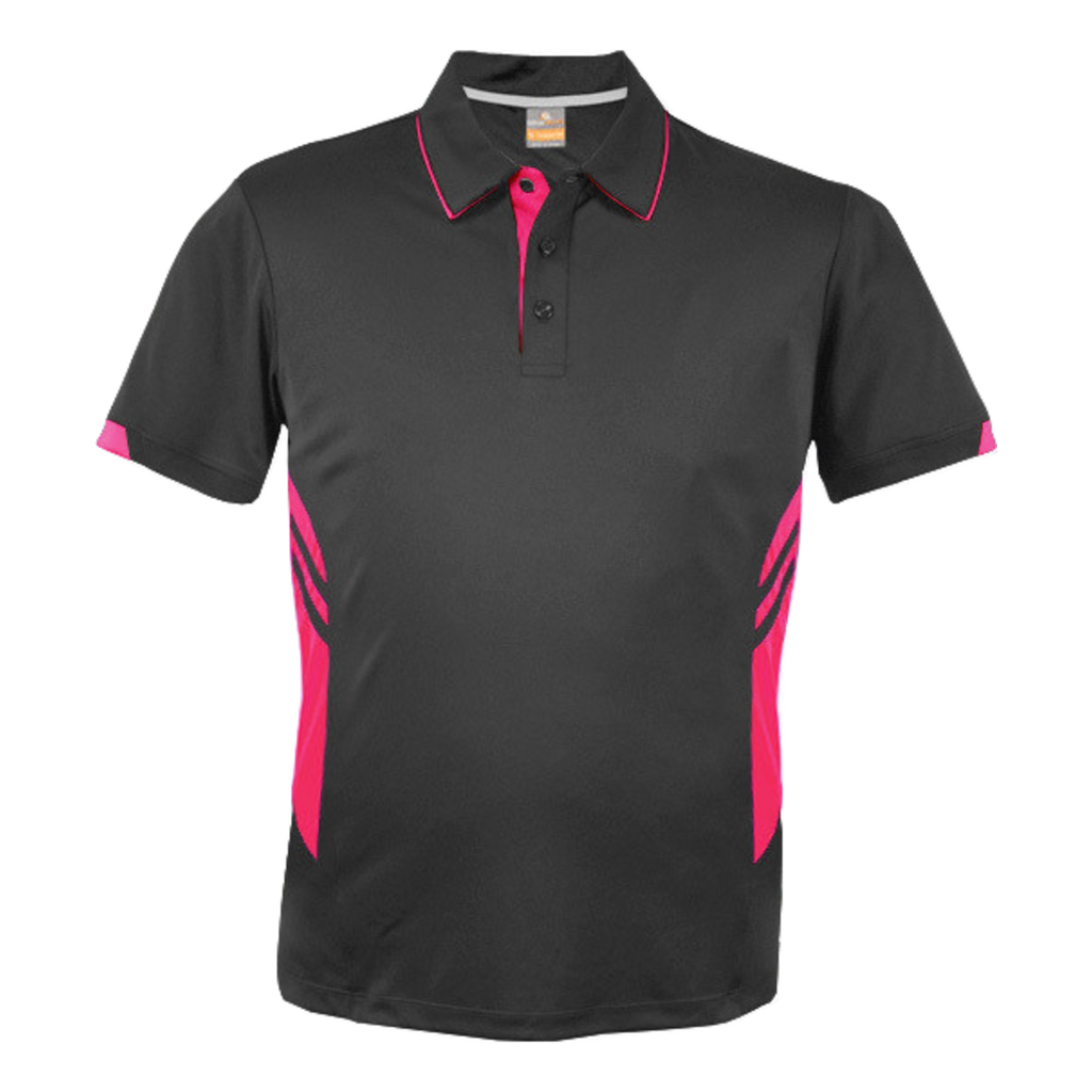 Kids Tasman Polo - Colours Slate / Neon Pink