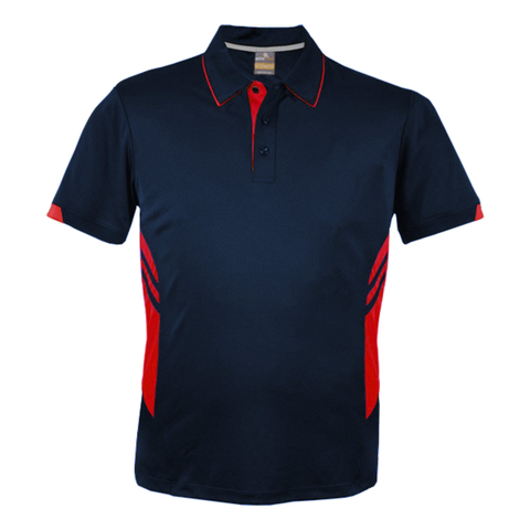 Image of Mens Tasman Polo - Colours Navy / Red