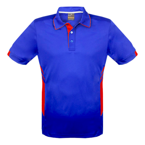 Image of Mens Tasman Polo - Colours Royal / Red