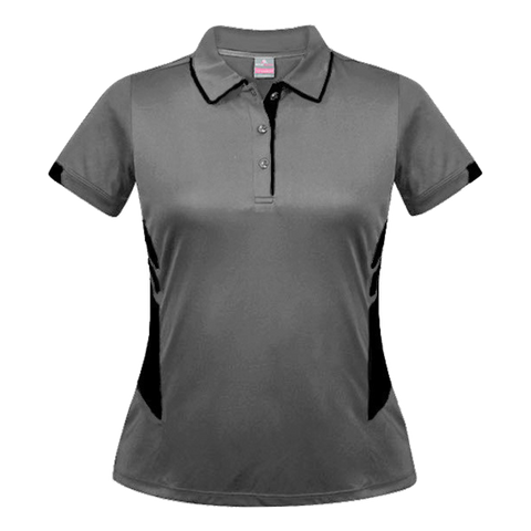 Womens Tasman Polo - Colours Ashe / Black