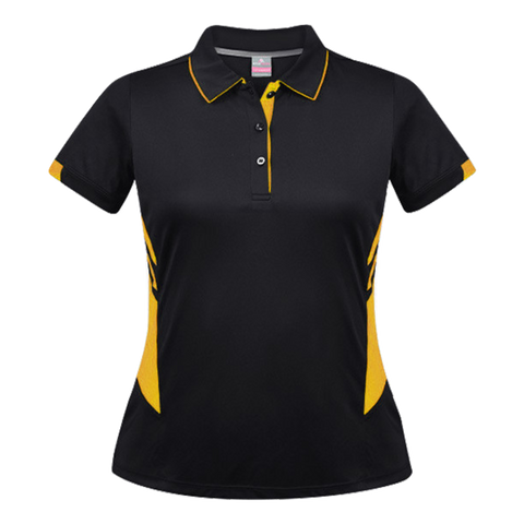 Womens Tasman Polo - Colours Black / Gold