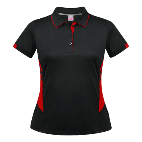 Womens Tasman Polo - Colours Black / Red