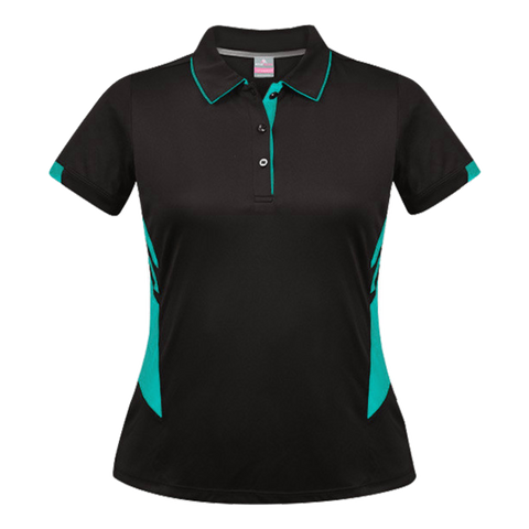 Womens Tasman Polo - Colours Black / Teal