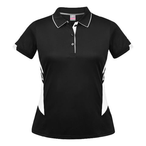 Womens Tasman Polo - Colours Black / White