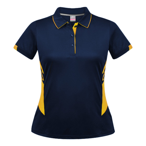 Womens Tasman Polo - Colours Navy / Gold